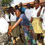 The Water Project: Lungi, Komkanda Memorial Secondary School -  Tippy Tap Demonstration