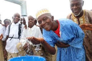The Water Project:  Town Chief Rejoicing At The New Well