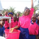 The Water Project: Lungi, Lungi Town, Holy Cross Primary School -  Head Girl Celebrating