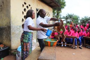 The Water Project:  Hygiene Facilitator Teaching About Diarrhea