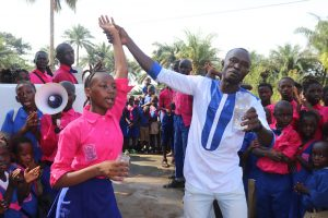 The Water Project:  School Head Girl And Teacher Celebrating