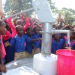 The Water Project: Lungi, Lungi Town, Holy Cross Primary School -  Students Celebrate