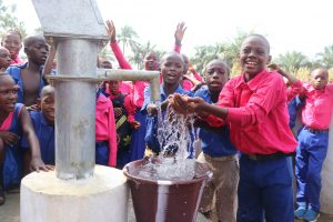 The Water Project:  Students Playing At The Well