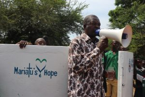 The Water Project:  Government Official Makes Speech At Dedication