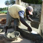 The Water Project: DEC Mahera Primary School -  Pad Construction
