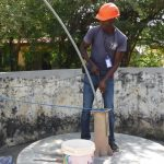 The Water Project: DEC Mahera Primary School -  Yield Test