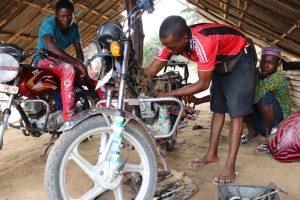 The Water Project:  Motor Bike Garage
