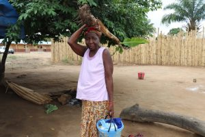 The Water Project:  Old Woman Carrying Banana Stem