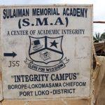 The Water Project: Sulaiman Memorial Academy Jr. Secondary School -  School Signboard