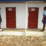 The Water Project: Lungi, International High School For Science & Technology -  Students Waiting To Use Latrine