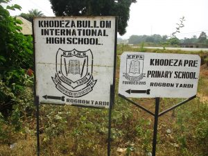 The Water Project:  School Signboard