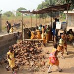 The Water Project: Lungi, Tardi, Khodeza Community School -  Students Outside Classroom