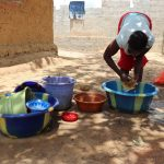 The Water Project: Kamasondo, Borope Village School -  Cleaning Dishes