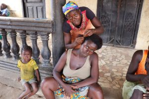 The Water Project:  Lady Braiding Hair