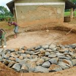 The Water Project: Bumbo Primary School -  Laying Stone Foundation
