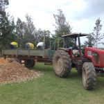 The Water Project: Chiliva Primary School -  Unloading Gravel