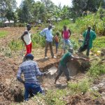 The Water Project: Kalenda B Community, Lumbasi Spring -  Excavation