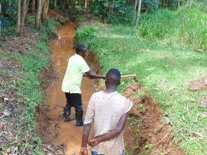 The Water Project:  Opening Drainage Channel