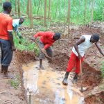 The Water Project: Imusutsu Community, Ikosangwa Spring -  Excavation Begins