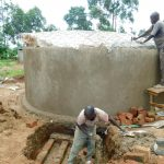 The Water Project: Bumbo Primary School -  Attaching Dome