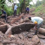 The Water Project: Rosterman Community, Lishenga Spring -  Busy Construction Site