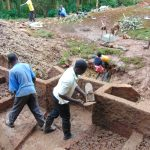The Water Project: Kitulu Community, Kiduve Spring -  Cement Work