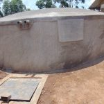 The Water Project: Bumbo Primary School -  Freshly Cemented Dome