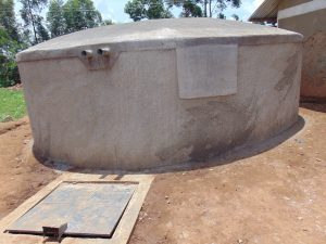 The Water Project:  Freshly Cemented Dome