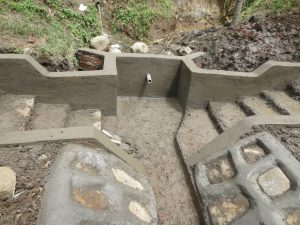 The Water Project:  Cement And Plaster Work Underway