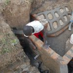 The Water Project: Kalenda B Community, Lumbasi Spring -  Plastering The Headwall