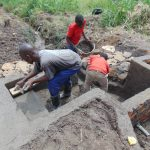 The Water Project: Emurumba Community, Makokha Spring -  Stair Construction