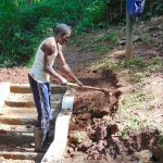 The Water Project: Imusutsu Community, Ikosangwa Spring -  Site Clearance Around Stairs
