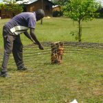 The Water Project: Sawawa Secondary School -  Setting Wire For Dome