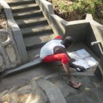 The Water Project: Rosterman Community, Lishenga Spring -  Tile Setting