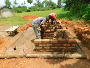 The Water Project:  Latrine Brickwork