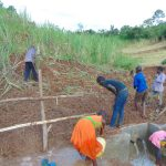 The Water Project: Musiachi Community, Mutuli Spring -  Backfilling And Fencing
