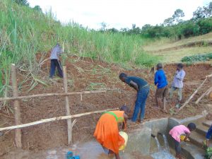 The Water Project:  Backfilling And Fencing