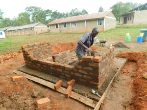 The Water Project:  Latrine Brick Work