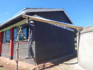 The Water Project:  Attaching Gutter To Dome