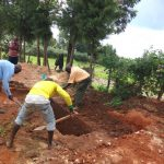 The Water Project: Chiliva Primary School -  Digging Latrine Pits By Hand