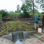 The Water Project: Bukhaywa Community, Shidero Spring -  Fencing