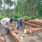 The Water Project: Saride Primary School -  Bricklaying For Vip Latrines