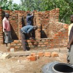 The Water Project: Sawawa Secondary School -  Latrine Brickwork