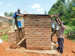 The Water Project:  Fitting Latrine Roof