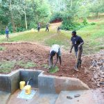 The Water Project: Kitulu Community, Kiduve Spring -  Grass Planting