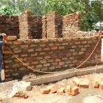 The Water Project: Sawawa Secondary School -  Latrine Wall Construction