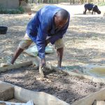 The Water Project: Mwichina Community, Matanyi Spring -  Sanitation Slab Construction
