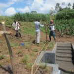 The Water Project: Kalenda A Community, Webo Simali Spring -  Fencing The Spring