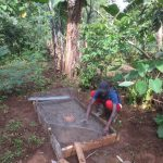 The Water Project: Rosterman Community, Lishenga Spring -  Sanitation Slab Construction