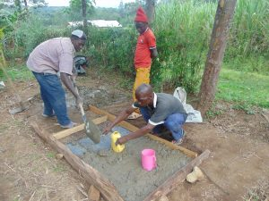 The Water Project:  Slab Construction